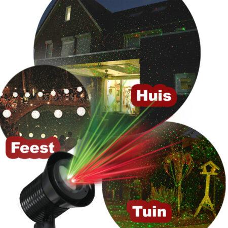 Koop nu Glow Bright Laser Light Pro. Sfeervolle feestverlichting met afstandsbediening. 9 verschillende projecties